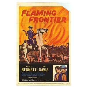 Flaming Frontier Original Movie Poster, 27 x 41 (1958