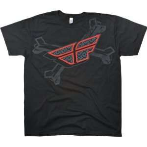 Fly Racing The Bone A Fide T Shirt   Large/Black
