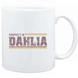 Mug White  Property of Dahlia   Vintage  Female Names