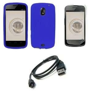Samsung Galaxy Nexus (Verizon) Premium Combo Pack   Blue Silicone Soft