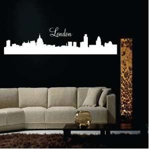 London City Skyline Silhouette Vinyl Wall Decal Sticker