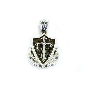 Silver Pendant Star Knights .925 Sterling Silver Blaze