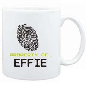Mug White  Property of _ Effie   Fingerprint  Female