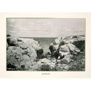 1914 Print Appledore Island Maine Shoals Rock Outcrop Landscape United