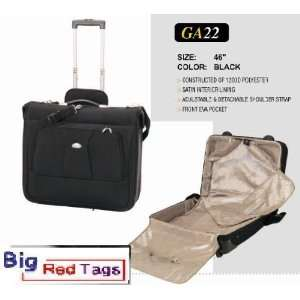 GA22 BLACK 46  SUIT CLOTH SHIRT CASE WITH HANDLE BAG