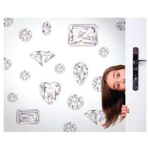 Girls Best Friend in Diamond White Peel and Stick Wall