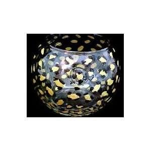 Gold Leopard Design   Hand Painted   19 oz. Bubble Ball