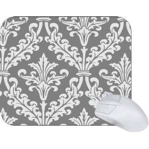 Rikki Knight Grey Color Damask Design Mouse Pad Mousepad   Ideal Gift
