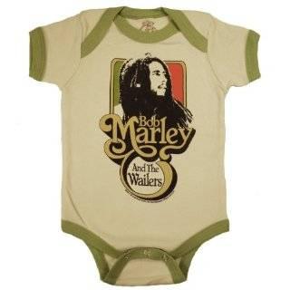 BOB MARLEY   Peace Creeper   Black Onesie / Baby T shirt