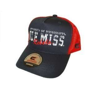Ole Miss Rebels NCAA Navy & Red Mesh Trucker Hat