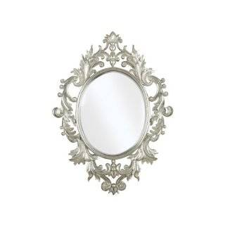 French Style Antique Wall Mirror with Scroll Design