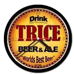 TRICE beer and ale cerveza wall clock: Everything Else