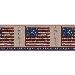 American America Flag Patriotic Wallpaper Wall Border