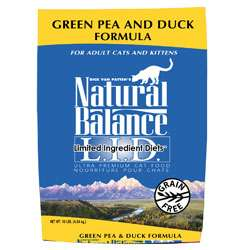Cat Food > Natural Balance Green Pea & Duck Formula Dry Cat Food