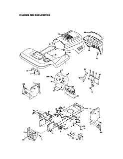 Craftsman Lawn tractor Chassis and enclosures Parts