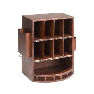 Wooden Mail Organizer  Walnut Finish (Walnut) (17.5H x 15