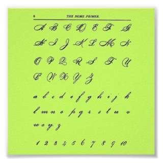 Cursive Letters Poster  Zazzle.co.uk