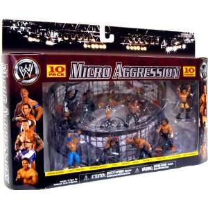WWE Wrestling Exclusive Micro Aggression 10Pack Set #3 Elimination