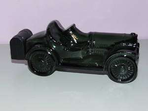 Vintage Touring Car Old Avon Aftershave Bottle Green Glass Collectible