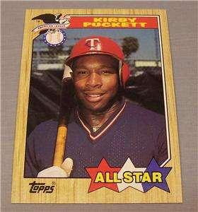 1987 Topps # 611 Kirby Puckett Minnesota Twins All Star