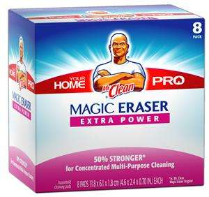 Gamble 23822 8 Count Mr. Clean Magic Eraser Home Pro Extra Power 23822