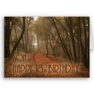 Son Happy 18th Birthday Path in the Woods Greeting Card  Zazzle.co.uk