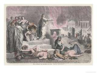 The Emperor Nero Watches Rome Burn Giclee Print by H. Leutemann at Art