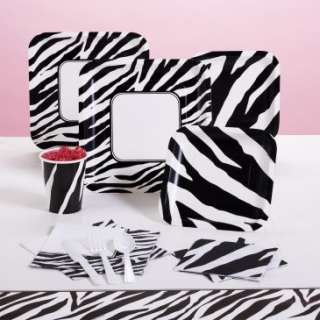 Purple zebra party supplies for Animal print party decoration ideas