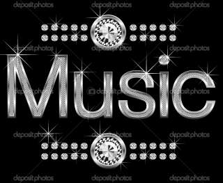 thin metal diamond word music  Stock Vector © Konstantin Li #5801318