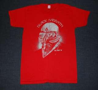 VINTAGE BLACK SABBATH U.S. TOUR OZZY T  SHIRT 1978 M