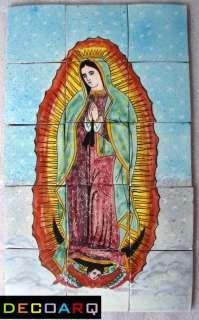 Talavera MEXICAN Tile mosaic mural VIRGEN DE GUADALUPE IMAGE BEAUTY
