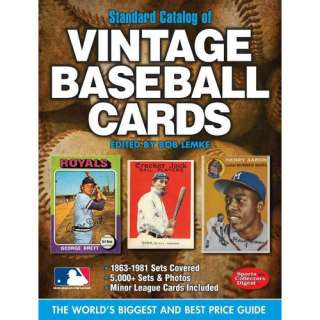 Standard Catalog of Vintage Baseball Cards, Lemke, Bob