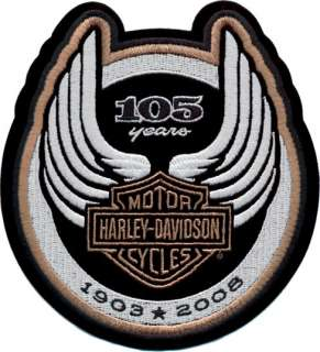 HARLEY DAVIDSON 105TH ANNIVERSARY LOGO PATCH *USA MADE*