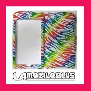 Apple Ipod Touch 4th GEN Hard SnapOn Case Cover WHITE RAINBOW COLORFUL