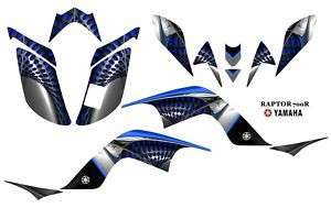 Yamaha Raptor 700 ATV Quad Graphics Decal kit 7777Blue