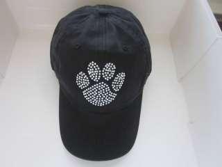dog paw animal print rhinestone ball cap baseball hat