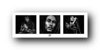 Bob Marley Poster Black White Reggae Rasta Print 12090