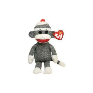 TY Beanie Babies Sock Monkey in Grey