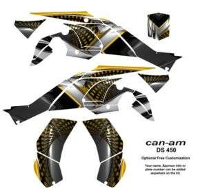 Can Am DS 450 ATV Quad Graphics Kit Decals #7777Yellow