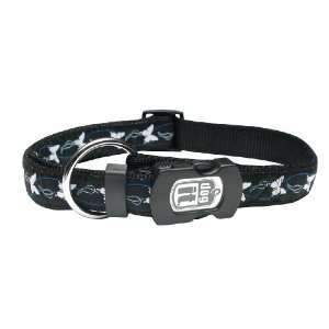 Style Large Butterfly Adjustable Nylon Collar with Plastic Snap and ID