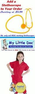 Kids Scrubs REAL Childrens Doctor and Nurse Scrub Sets