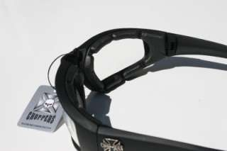 Choppers Men Motorcycle Goggles Black Clear Sun glasses