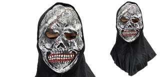 Fearful Skull w Bloody White Teeth Halloween Mask