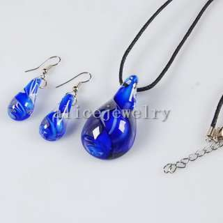 Colorful Lampwork Necklace & Earring Set 20 GN020