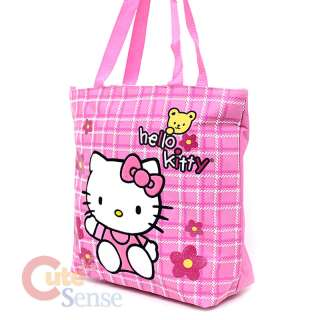 Sanrio Hello Kitty School Tote Bag Diaper Bag Pink Teddy Bear 2
