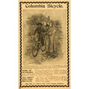 1893 Ad Antique Pope Columbia Bicycles Bikes Cycling
