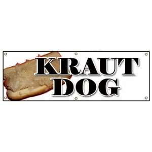 KRAUT DOG BANNER SIGN weiner sauerkraut hot dog Patio, Lawn & Garden