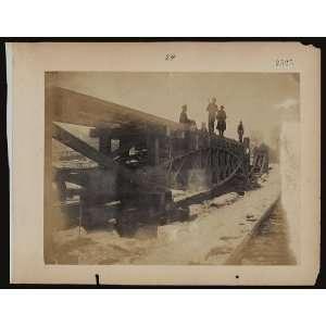 Experimental bridge trusses,men,c1862,Andrew Russell