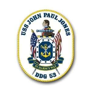 US Navy Ship USS John Paul Jones DDG 53 Decal Sticker 5.5
