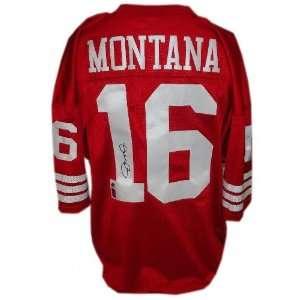 Joe Montana San Francisco 49ers Autographed Authentic Red